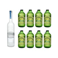 Belvedere Vodka 70cl mit 8x Bundaberg Lemon, Lime & Bitters