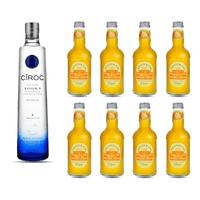 Ciroc Grape Vodka 70cl avec mit 8x Fentimans Mandarine & Seville Orange