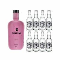 Sikkim Fraise Gin 70cl mit 8x Thomas Henry Slim Tonic Water