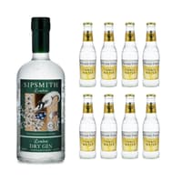 Sipsmith London Dry Gin 70cl avec 8x Fever Tree Indian Tonic Water