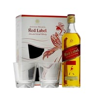 Johnnie Walker Red Label Blended Whisky 70cl Set mit 2 Gläser