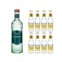 Blackwood's Vintage Dry Gin 40% 70cl mit 8x Fever Tree Premium Indian Tonic Water