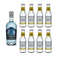 Lebensstern Alpine Gin 70cl mit 8x Swiss Mountain Spring Classic Tonic Water