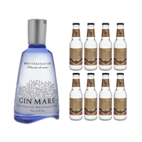 Gin Mare Mediterranean Gin 70cl mit 8x Doctor Polidori's Dry Tonic Water
