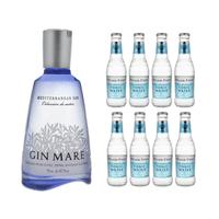 Gin Mare Mediterranean Gin 70cl mit 8x Fever-Tree Mediterranean Tonic Water