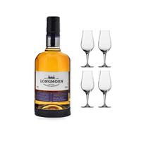 Longmorn Distiller's Choice mit 4 Spiegelau Whiskygläser