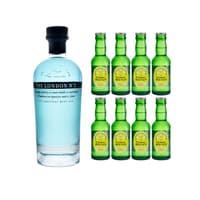 The London No.1 Blue Gin 70cl mit 8x Fentiman's Herbal Tonic Water