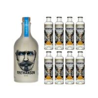 Knut Hansen Dry Gin 50cl avec 8x 1724 Tonic Water