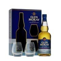 Glen Moray Peated Single Malt Whisky 70cl Set mit 2 Gläser