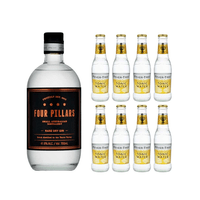 Four Pillars Rare Dry Gin 70cl mit 8x Fever Tree Premium Indian Tonic Water