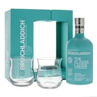 Bruichladdich The Classic Laddie Scottish Barley Whisky mit Gläsern 70cl