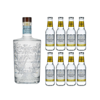 Noble White Alpine Gin 50cl mit 8x Swiss Mountain Spring Classic Tonic Water
