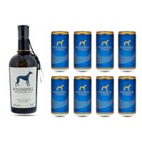 Windspiel Premium Dry Gin 50cl mit 8x Windspiel Tonic Water