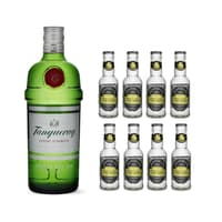 Tanqueray London Dry Gin 70cl mit 8x Fentiman's Tonic Water