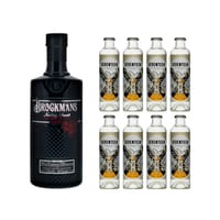 Brockmans Premium Gin 70cl mit 8x 1724 Tonic Water