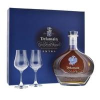 Delamain Cognac Extra de Grande Champagne Set mit 2 Gläser 70cl