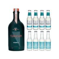 Turicum Vodka 50cl mit 4x Swiss Mountain Spring Bitter Lemon und 4x Gents Bitter Lemon