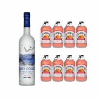 Grey Goose Vodka 70cl mit 8x Bundaberg Blood Orange