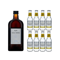 Deux Frères Gin 50cl avec 8x Swiss Mountain Spring Classic Tonic Water