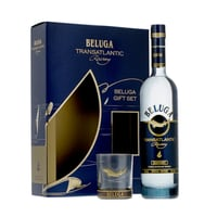 Beluga Transatlanic Vodka 70cl Set mit Glas