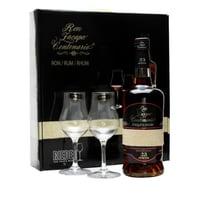 Rum Zacapa Centenario 23 Anos Etiqueta Negra Koffer mit 2 Riedel-Gläser 70cl