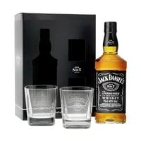 Jack Daniel's Old No. 7 70cl Avec Deux Verres à Whisky