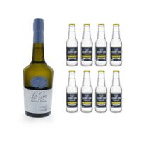 Le Gin de Christian Drouin 70cl avec 8x Erasmus Bond Classic Tonic Water
