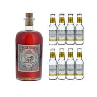 Monkey 47 Sloe Gin 50cl mit 8x Swiss Mountain Spring Classic Tonic Water