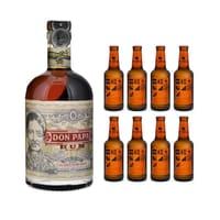 Don Papa Rum 7 Years 70cl mit 8x Aqua Monaco Hot Ginger