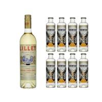 Lillet Blanc Aperitif 75cl avec 8x 1724 Tonic Water