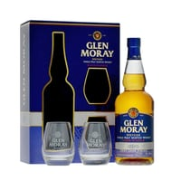 Glen Moray Port Cask Finish Single Malt Whisky 70cl Set mit 2 Gläser