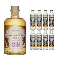 Secret Garden Gin Apothecary Rose 50cl avec 8x 1724 Tonic Water