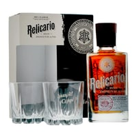 Ron Relicario Supremo Dominicano 70cl, Set mit zwei Gläser
