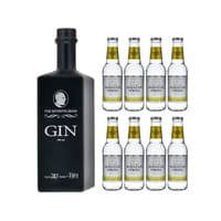The Seventh Sense Gin 50cl mit 8x Swiss Mountain Spring Classic Tonic Water