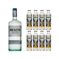 Bankes London Dry Gin 100cl avec 8x 1724 Tonic Water