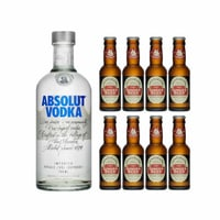 Absolut Vodka 70cl avec 8x Fentiman's Ginger Beer
