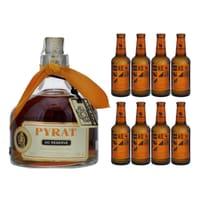 Pyrat XO Reserve Rum 70cl mit 8x Aqua Monaco Hot Ginger