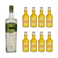 Zubrowka Bison Grass Vodka 100cl mit 8x Fentiman's Mandarine & Seville Orange