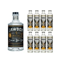 Jawbox Classic Dry Gin 70cl mit 8x 1724 Tonic Water