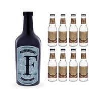 Ferdinand's Saar Dry Gin 50cl mit 8x Doctor Polidori's Dry Tonic Water