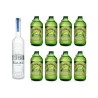 Belvedere Vodka 70cl avec 8x Bundaberg Lemon, Lime & Bitters