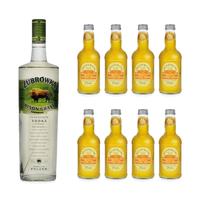 Zubrowka Bison Grass Vodka 100cl avec 8x Fentiman's Mandarine & Seville Orange