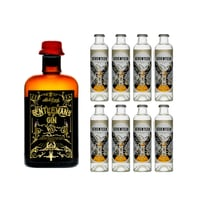 Gentleman's Gin 50cl mit 8x 1724 Tonic Water