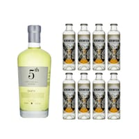 5th Gin Earth 70cl mit 8x 1724 Tonic Water