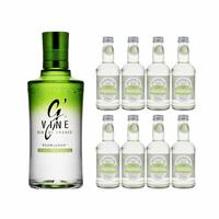 G'Vine Floraison Dry Gin 70cl mit 8x Fentiman's Wild English Elderflower