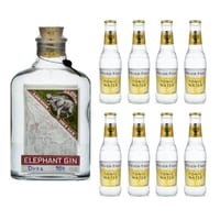 Elephant London Dry Gin 50cl avec 8x Fever Tree Premium Tonic Water