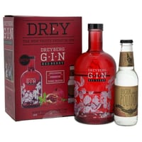 Dreyberg Red Berry Gin Set mit 1 Doctor Polidori's Dry Tonic Water