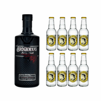 Brockmans Gin 70cl mit 8x Thomas Henry Tonic Water