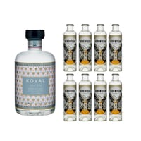 Koval Dry Gin 50cl mit 8x 1724 Tonic Water