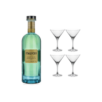 Italicus Rosolio di Bergamotto Likör mit 4 Spiegelau Cocktailgläser